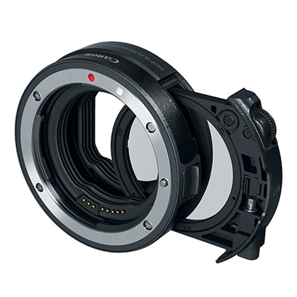 Canon Drop-In Filter Mount Adapter EF-EOS R with Drop-In Circular Polarizing Filter A