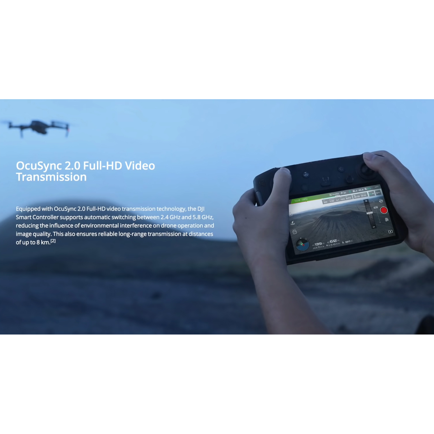 DJI Smart Controller with 5.5 1080p Screen, CP.MA.00000079.01
