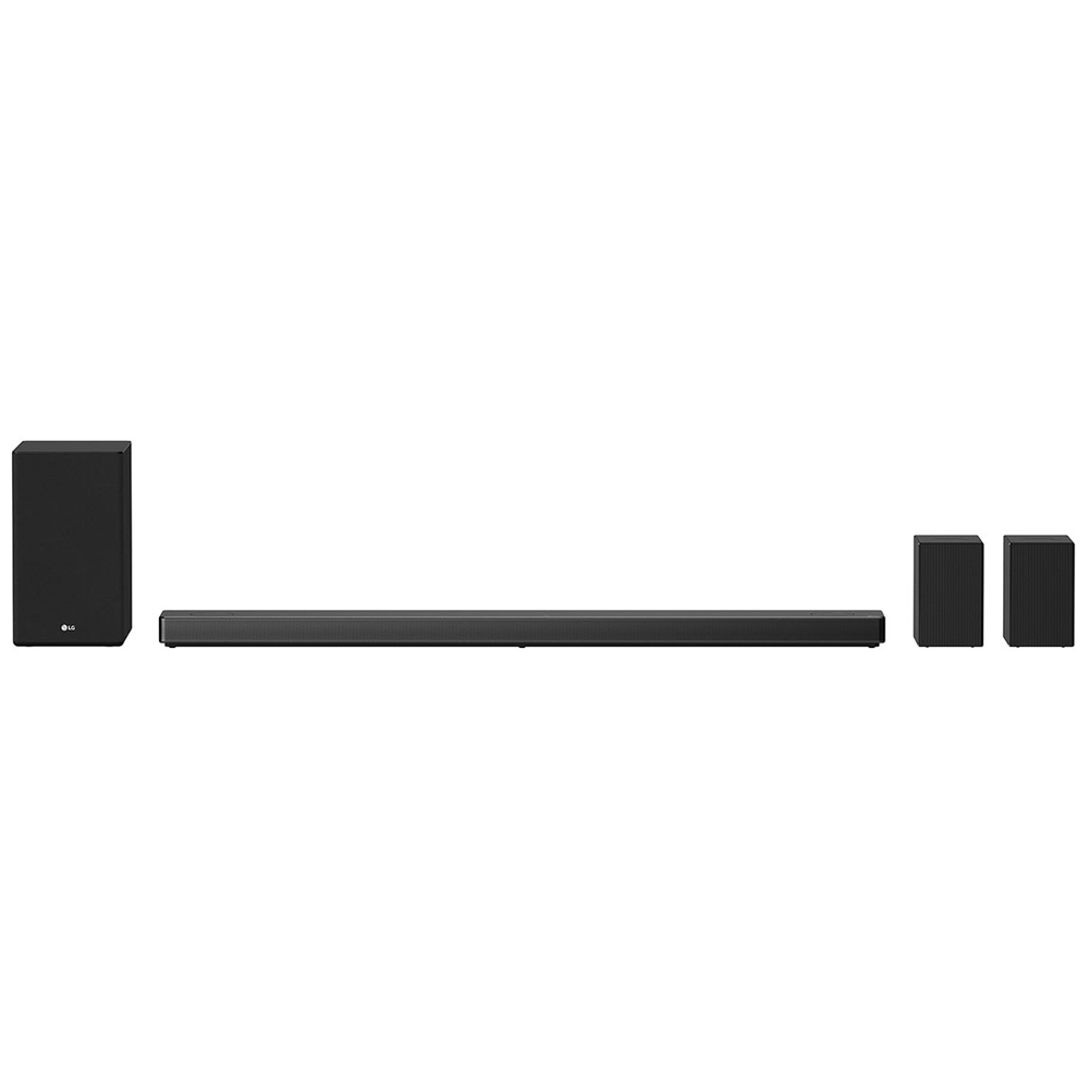 LG SN11RG 7.1.4 ch High Res Audio Sound Bar w  Dolby Atmos and Surround Speakers