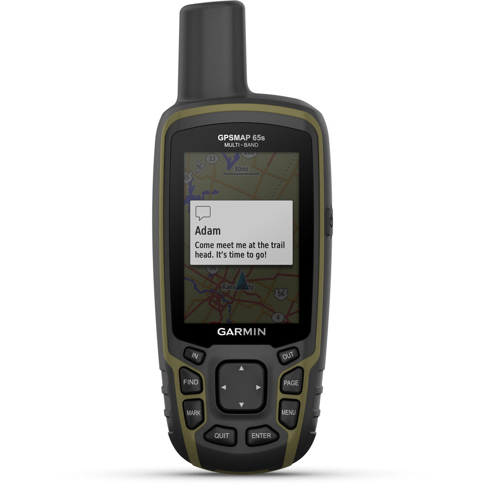 Garmin GPSMAP 65s Handheld Hiking Outdoor GPS Multi-Band/Multi-GNSS with ABC Sensors