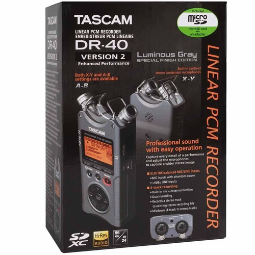Tascam Dr 40 Linear Pcm 4 Track Handheld Portable Audio Recorder