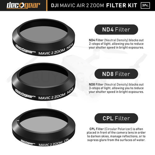 Dji Mavic 2 Fly More Combo 3pc Filter Kit Nd4 Nd8 Cpl