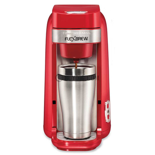 Single Serve Coffee Maker That Uses Ground Coffee : Hamilton Beach Single-Serve Coffee Maker, FlexBrew Red - 49960 eBay