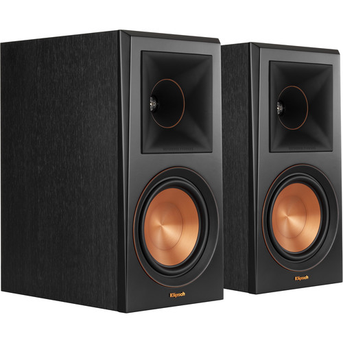 Klipsch RP-600M Reference Premiere Bookshelf Speaker Pair  Ebony  Cinema Stereo Sound