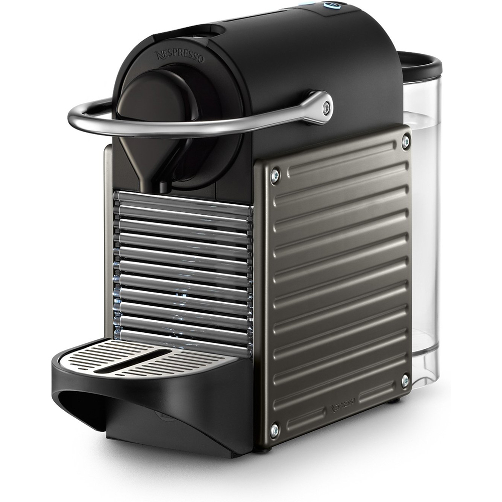 nespresso pixie espresso maker electric titan ebay. Black Bedroom Furniture Sets. Home Design Ideas