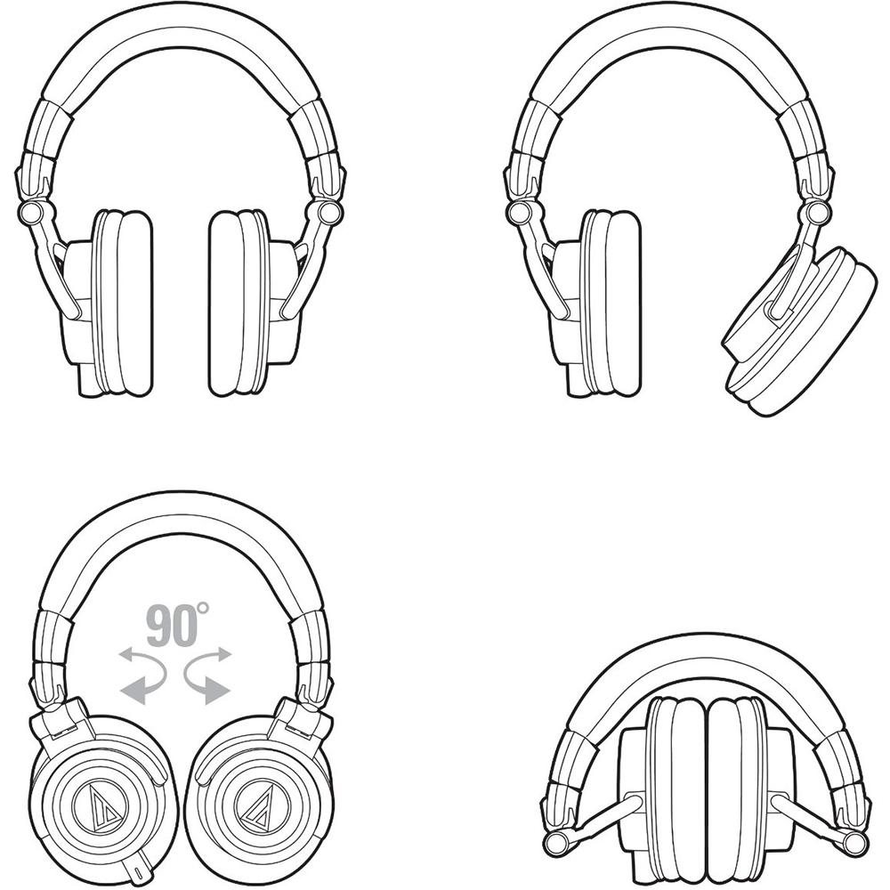 Audio-Technica ATH-M50X Professional Studio Headphones
