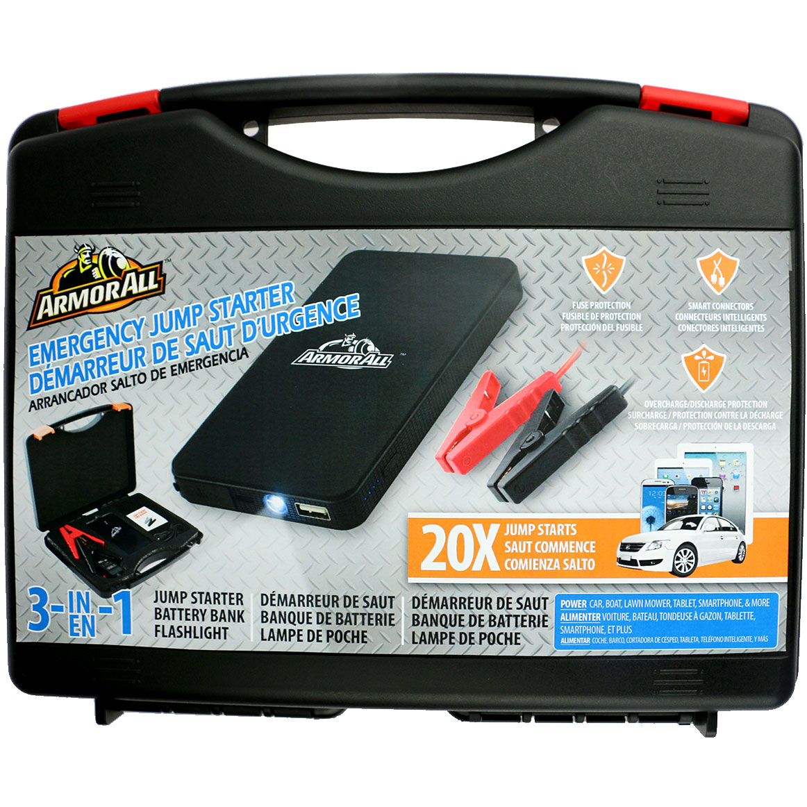 Armorall Jump Starter Kit With 6000mah Battery Bank 5722771854082 Car Fuse Box Jumper Catalog Xtrajs81001 Mfg Part Ajs8 1001 Condition Brand New Usa Warranty