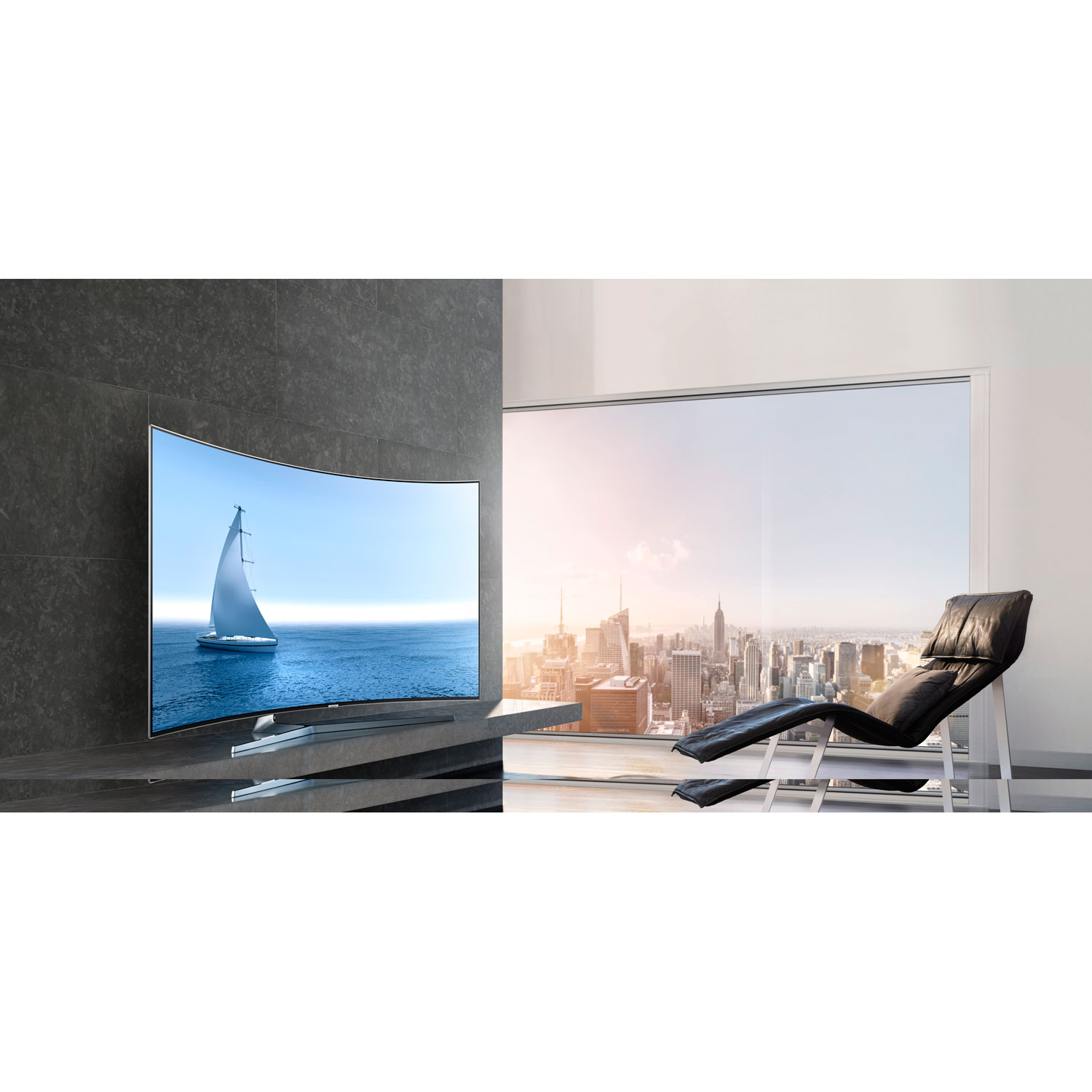 samsung un65ks9500 curved 65 inch 2160p smart 4k suhd led tv ks9500 9 series ebay. Black Bedroom Furniture Sets. Home Design Ideas