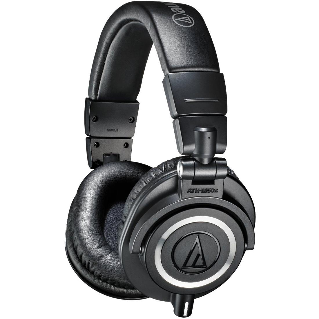 audio technica ath m50x pro studio headphones black usb audio interface bundle ebay. Black Bedroom Furniture Sets. Home Design Ideas