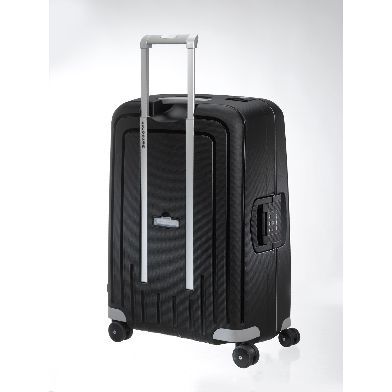 samsonite s 39 cure 28 zipperless spinner luggage black ebay. Black Bedroom Furniture Sets. Home Design Ideas