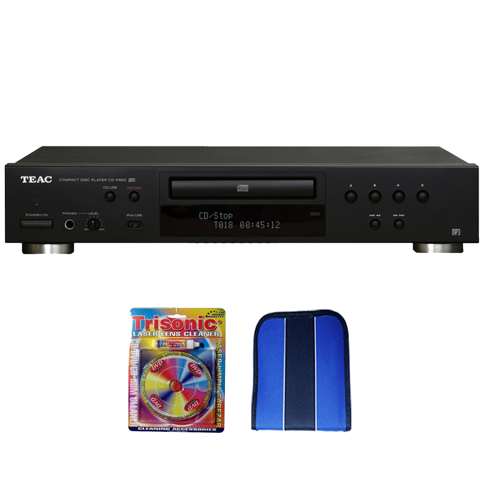 teac cd player w usb port black essentials bundle. Black Bedroom Furniture Sets. Home Design Ideas