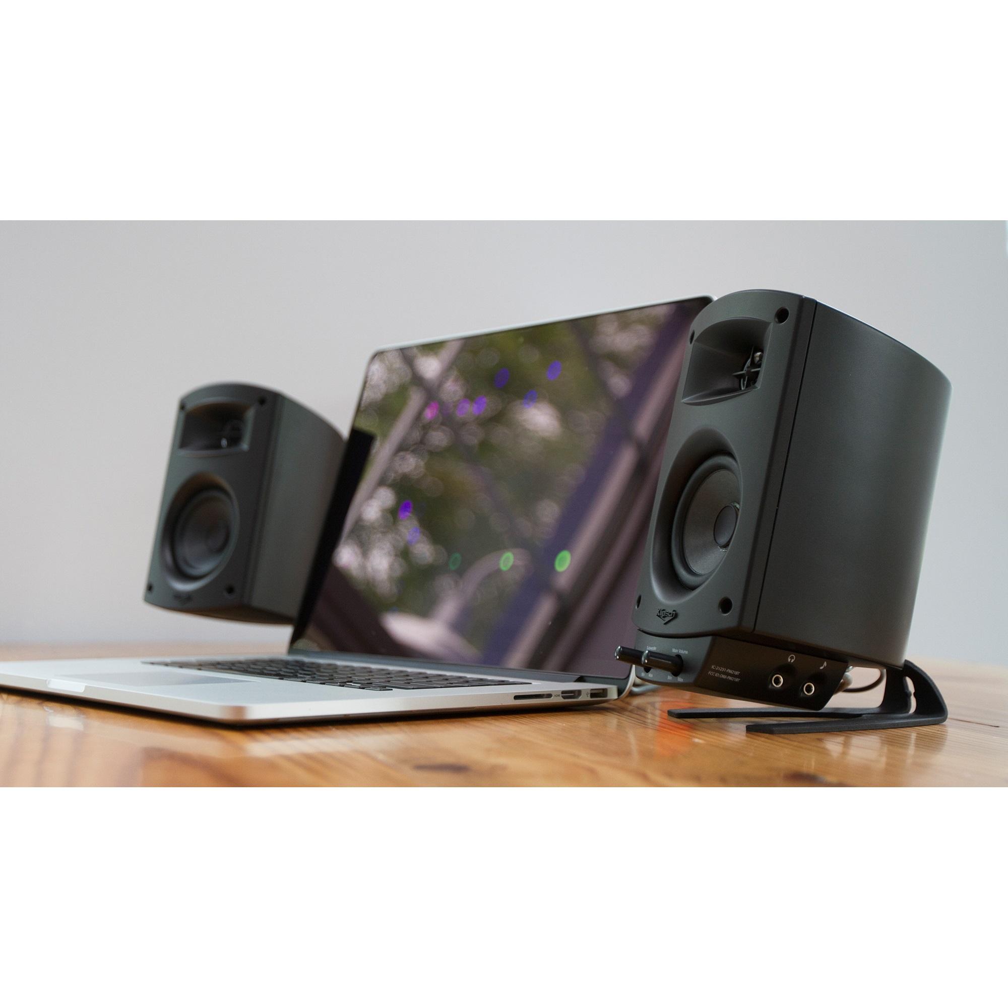 klipsch promedia 2 1 thx certified speaker system black ebay. Black Bedroom Furniture Sets. Home Design Ideas