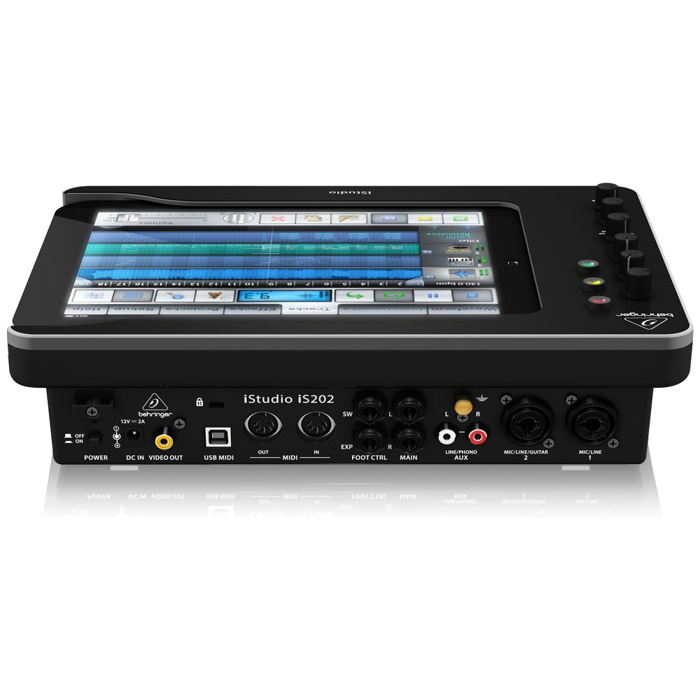 behringer istudio is202 docking station audio interface for ipad 1 2 3 ebay. Black Bedroom Furniture Sets. Home Design Ideas