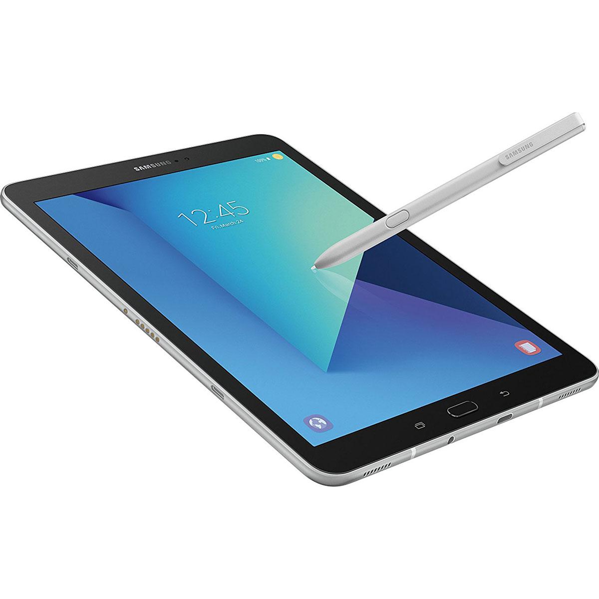 samsung galaxy tab s3 9 7 inch tablet w s pen silver. Black Bedroom Furniture Sets. Home Design Ideas