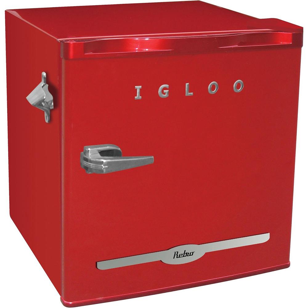 igloo 1 6 cu ft retro compact refrigerator w side bottle opener choose color ebay. Black Bedroom Furniture Sets. Home Design Ideas