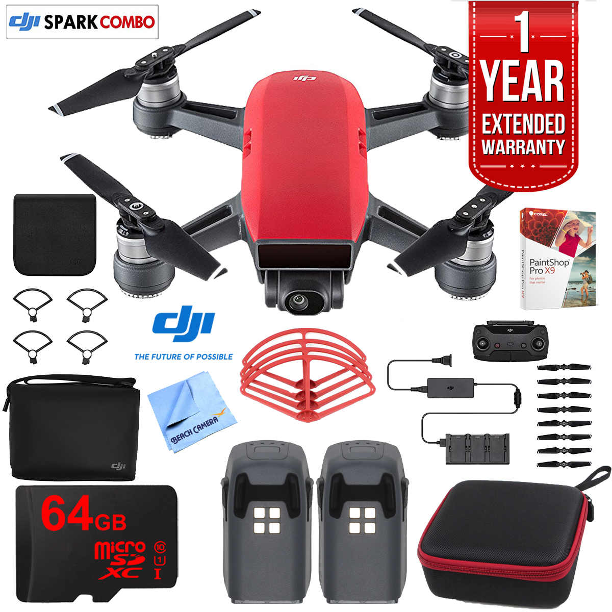 DJI SPARK Fly More Drone Combo Lava Red - CP.PT.000901 ...