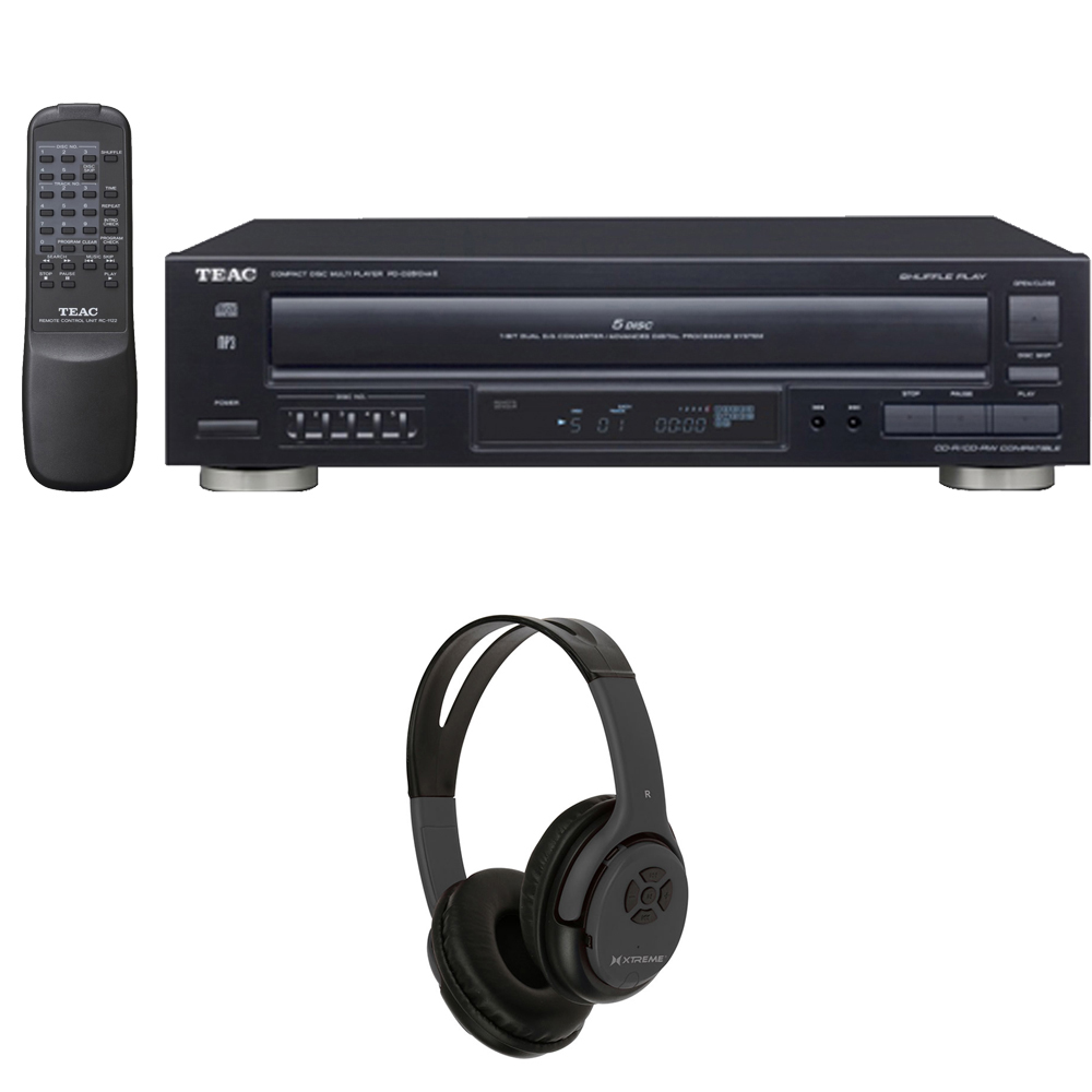 teac 5 disc carousel cd player with remote w xtreme. Black Bedroom Furniture Sets. Home Design Ideas