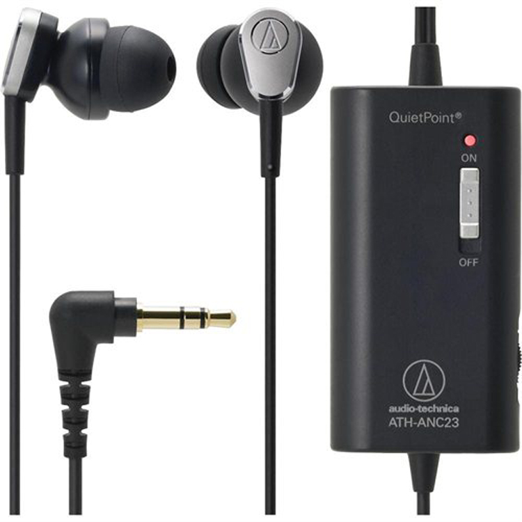 Audio-Technica-ATH-ANC23-QuietPoint-Active-Noise-Cancelling-In-Ear-Headphones