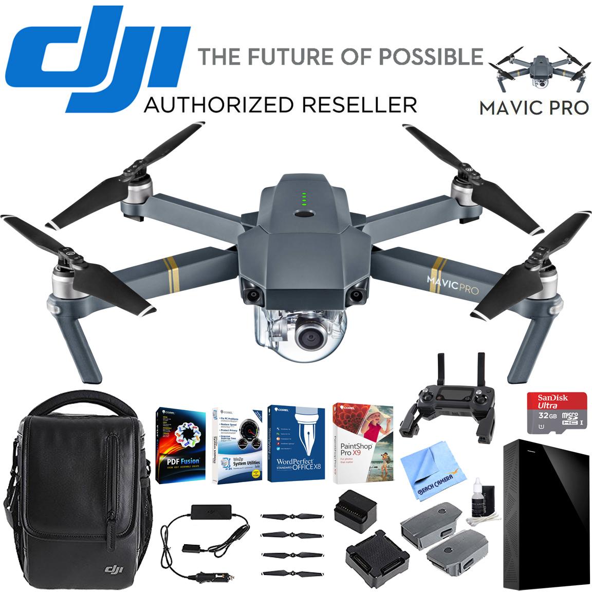 dji mavic pro quadcopter drone combo pack professional. Black Bedroom Furniture Sets. Home Design Ideas