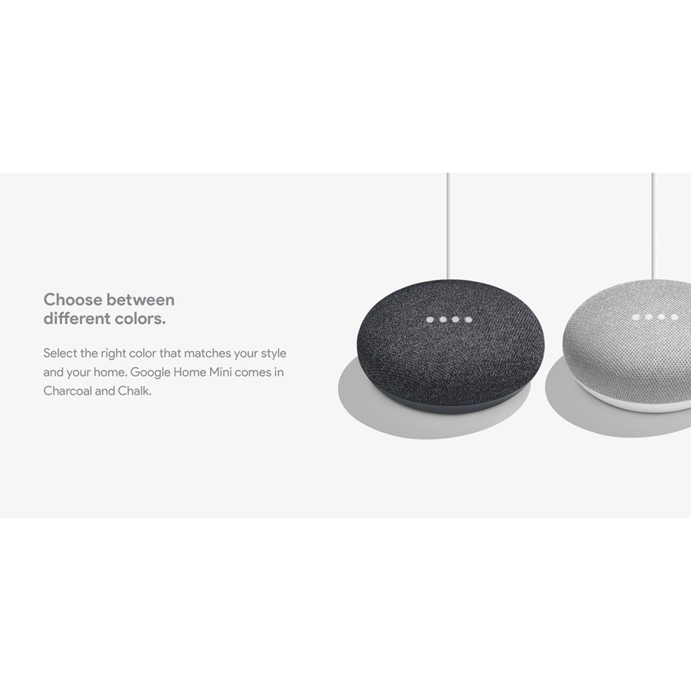 Google Home Mini Smart Speaker with Google Assistant - Choose Color