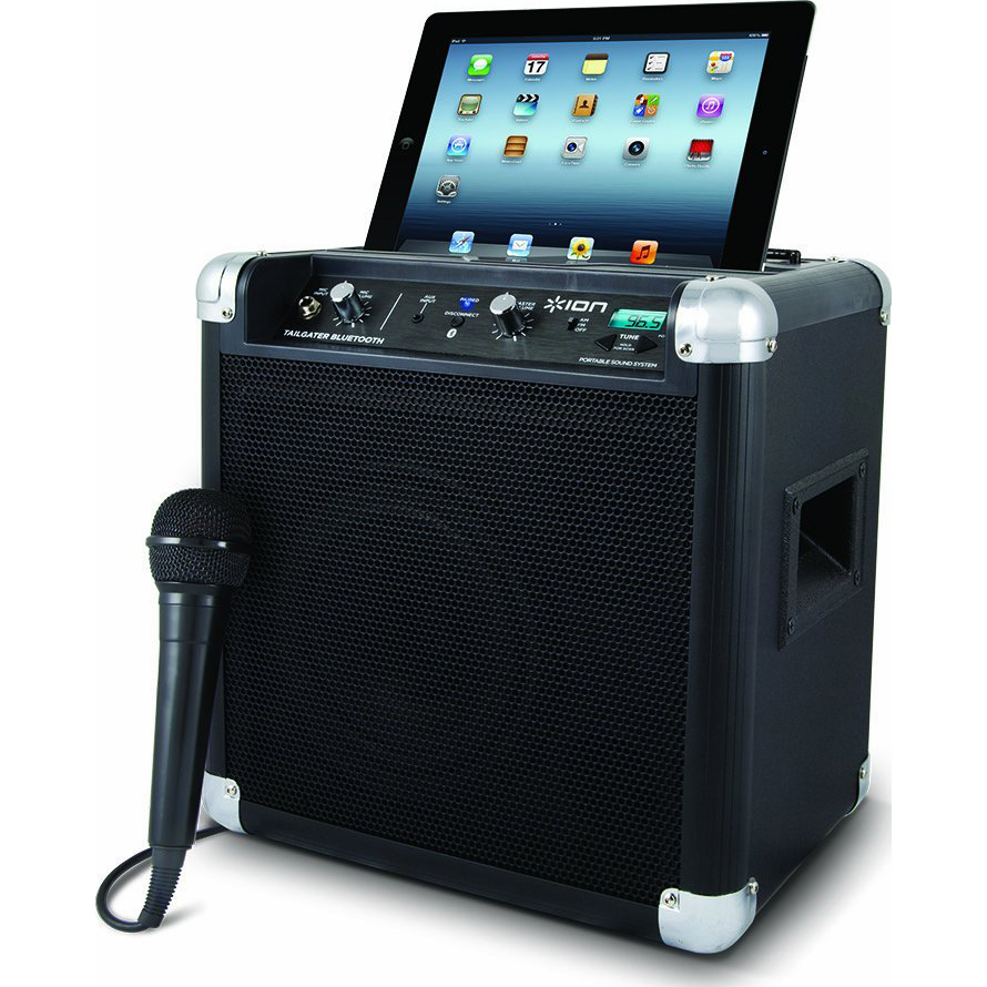 audio tailgater bluetooth compact speaker system with microphone usb ebay. Black Bedroom Furniture Sets. Home Design Ideas