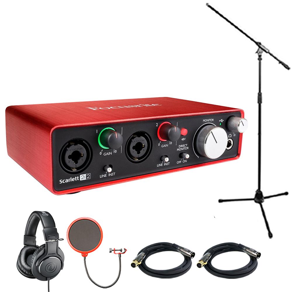 Details about Focusrite Scarlett 2i2 USB Audio Interface (2nd Generation)  w/ Headphone Bundle