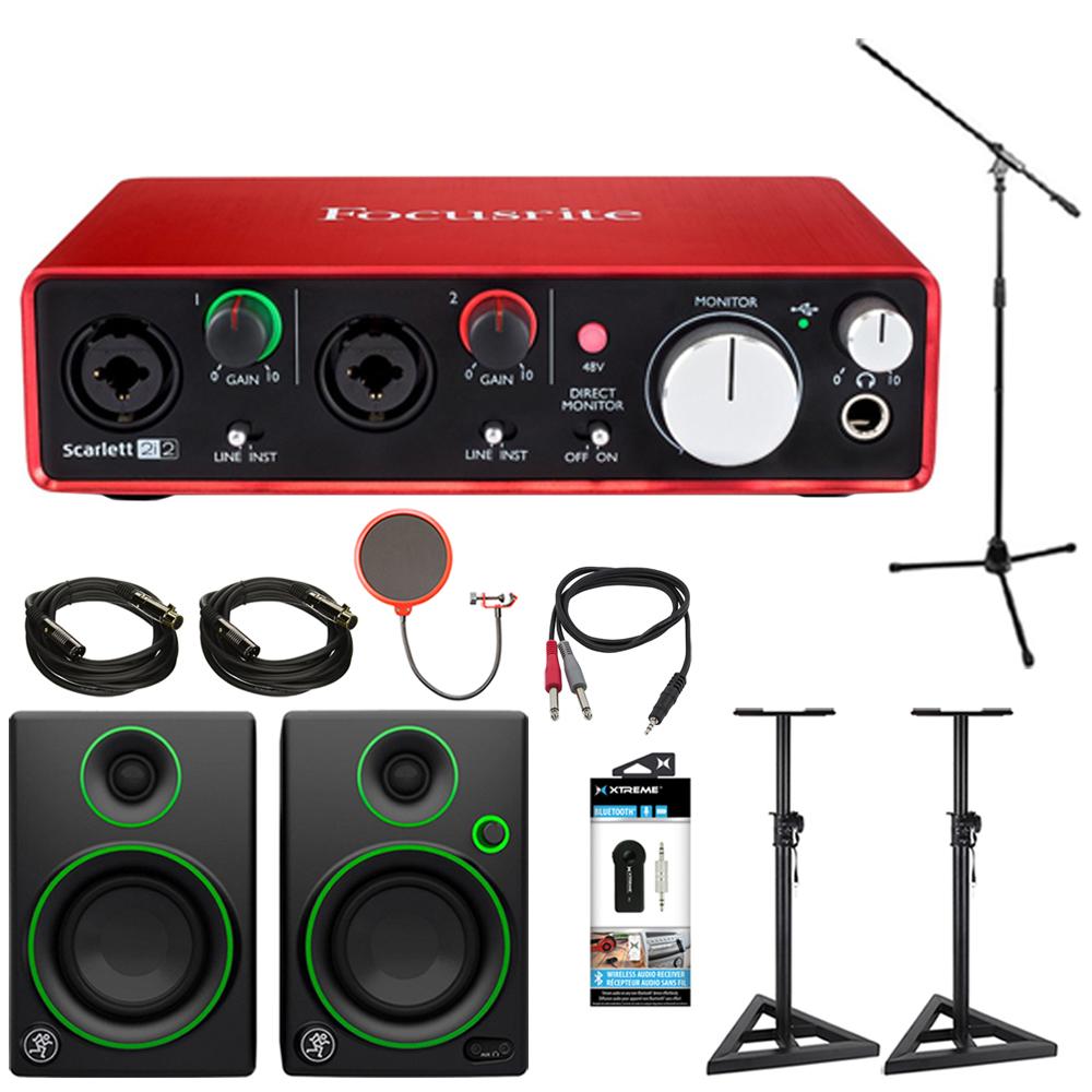 focusrite scarlett 2i2 usb audio interface 2nd gen w speaker bundle ebay. Black Bedroom Furniture Sets. Home Design Ideas