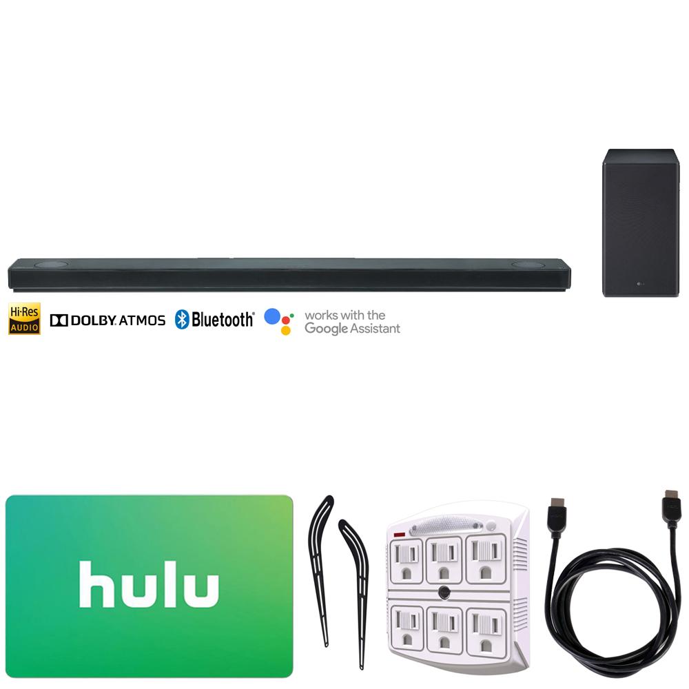 Details about LG SK10Y 5 1 2-Ch Hi-Res Audio Soundbar w/ Dolby Atmos + Hulu  Gift Card Bundle