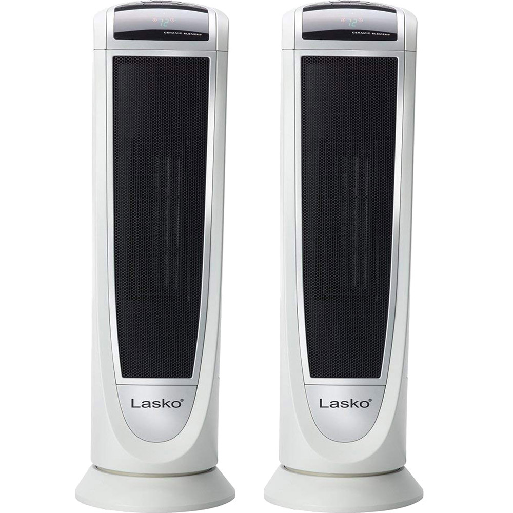 Details about Lasko Digital Ceramic Tower Heater with Remote Control - 5165  (2-Pack)