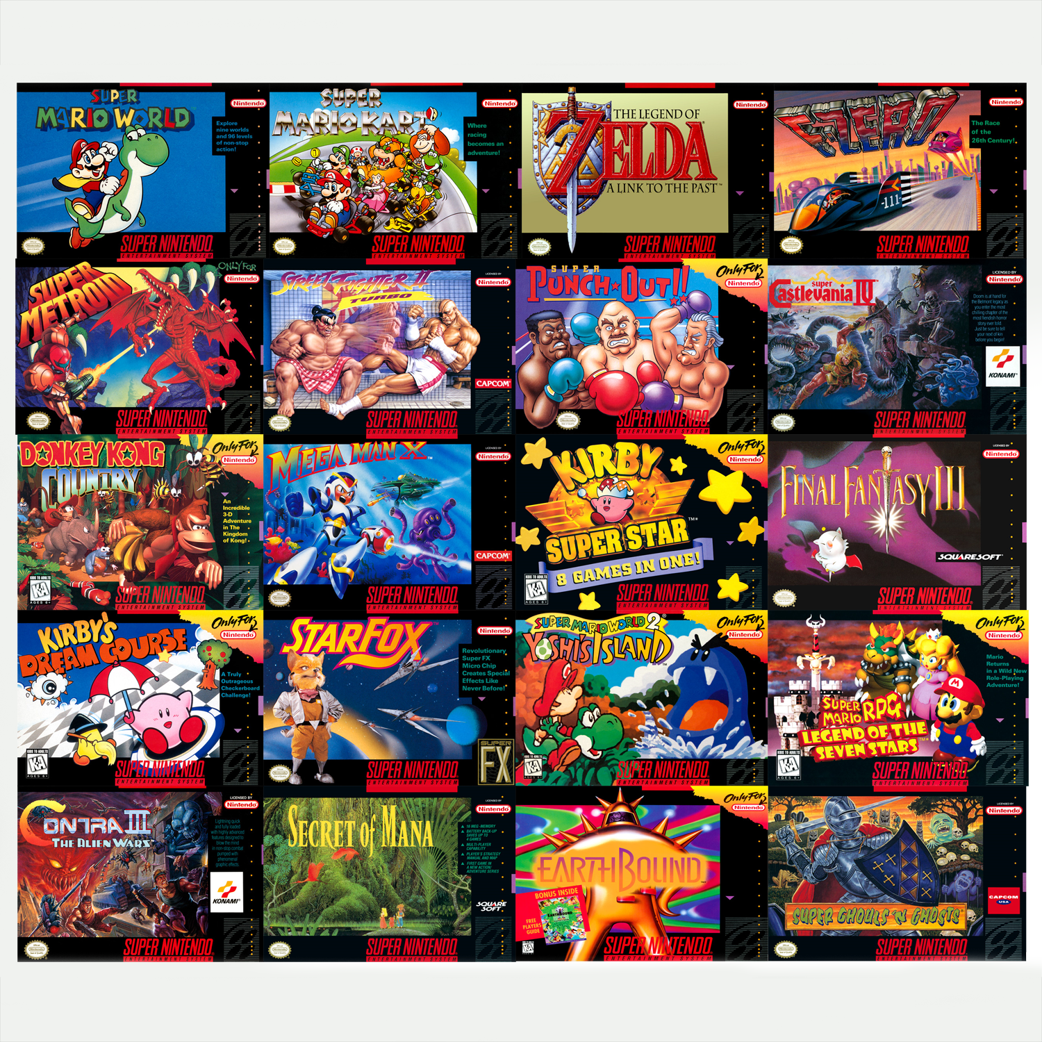 21 games on snes classic