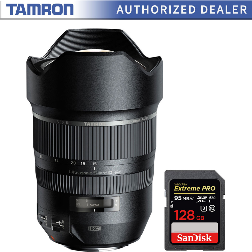 Details about Tamron A012 SP 15-30mm F/2 8 Ultra-Wide Angle Lens for Canon  + 128GB Memory Card