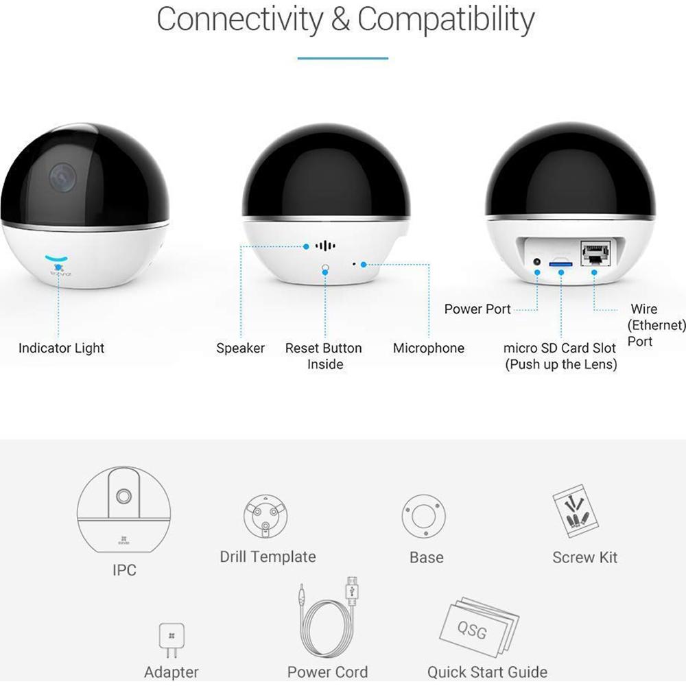 EZVIZ Mini 360 Plus 1080p HD Pan//Tilt//Zoom WiFi Home Security Camera