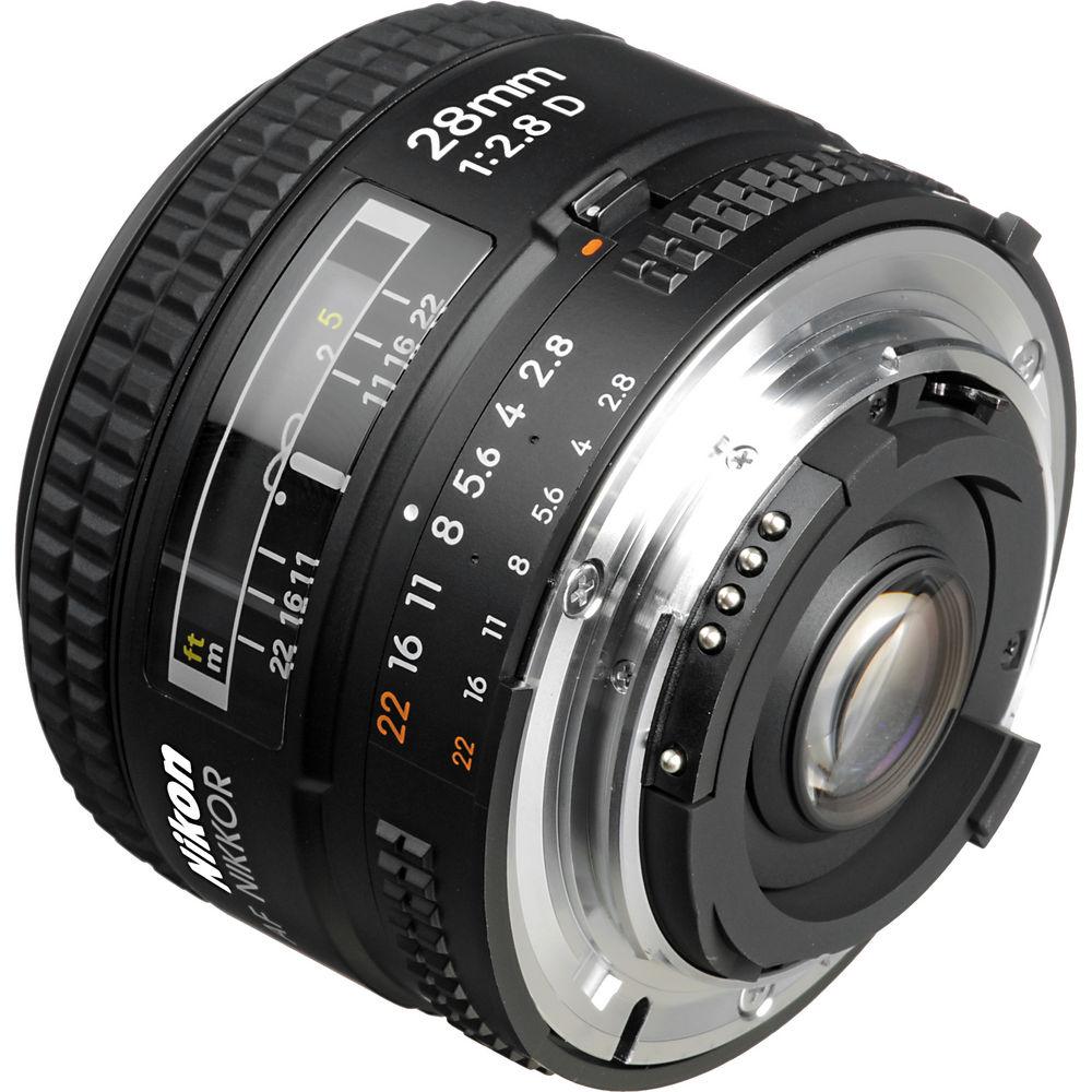 Nikon AF NIKKOR 28mm f/2.8D Lens 1922 B&H Photo Video