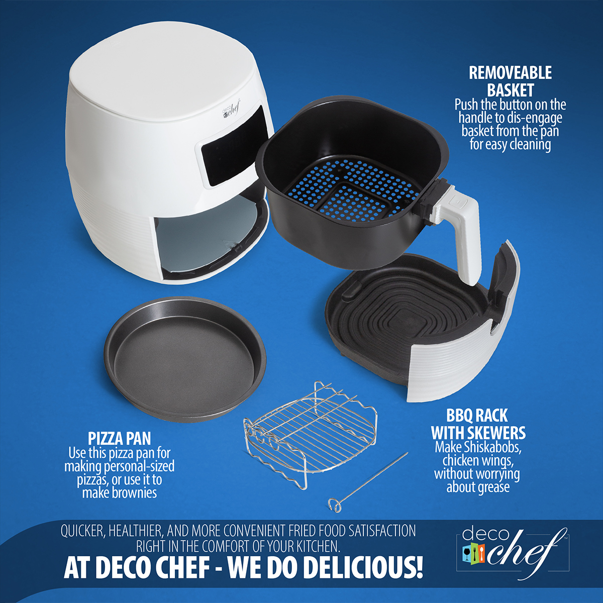 Deco-Chef-5-8QT-1400W-Digital-Electric-No-Oil-Air-Fryer-6-Cooking-Presets-Timer thumbnail 16