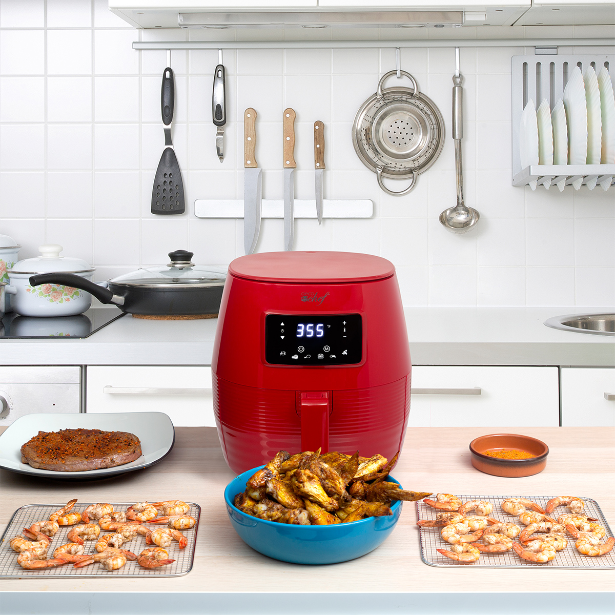 Deco-Chef-5-8QT-1400W-Digital-Electric-No-Oil-Air-Fryer-6-Cooking-Presets-Timer thumbnail 30