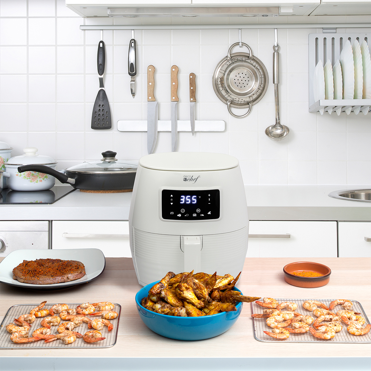 Deco-Chef-5-8QT-1400W-Digital-Electric-No-Oil-Air-Fryer-6-Cooking-Presets-Timer thumbnail 19