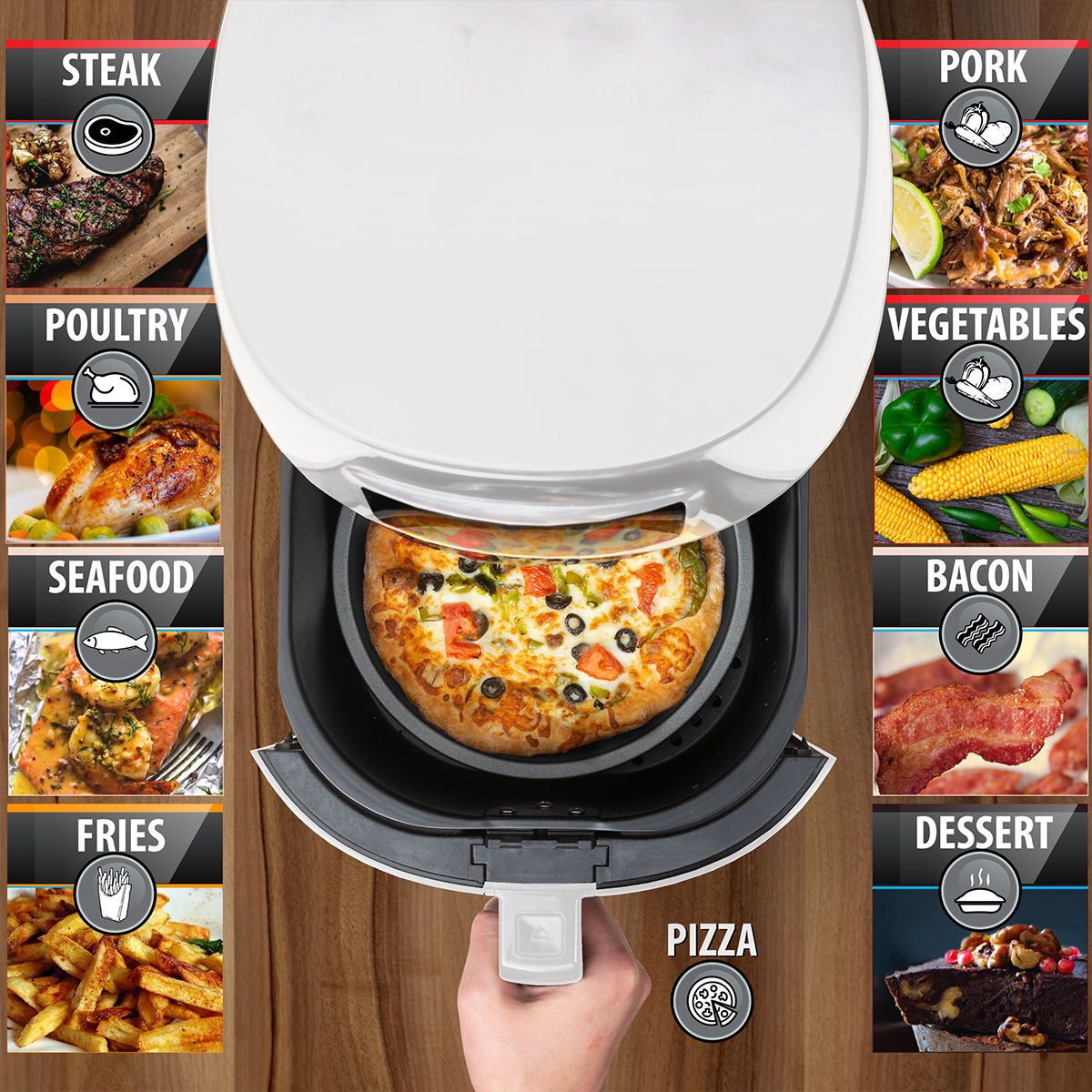 Deco-Chef-5-8QT-1400W-Digital-Electric-No-Oil-Air-Fryer-6-Cooking-Presets-Timer thumbnail 17