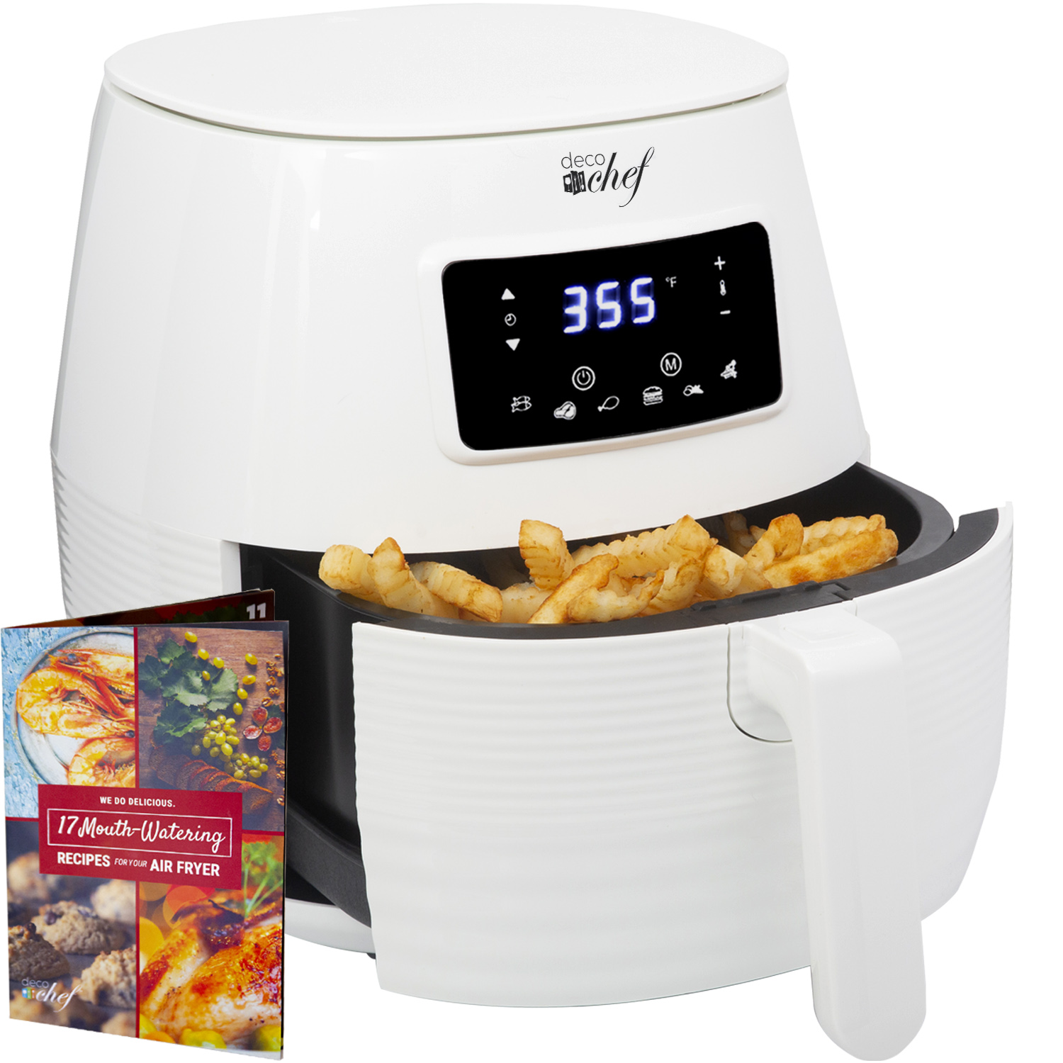 Deco Chef Digital 5.8QT Electric Air Fryer | Healthier & Fas